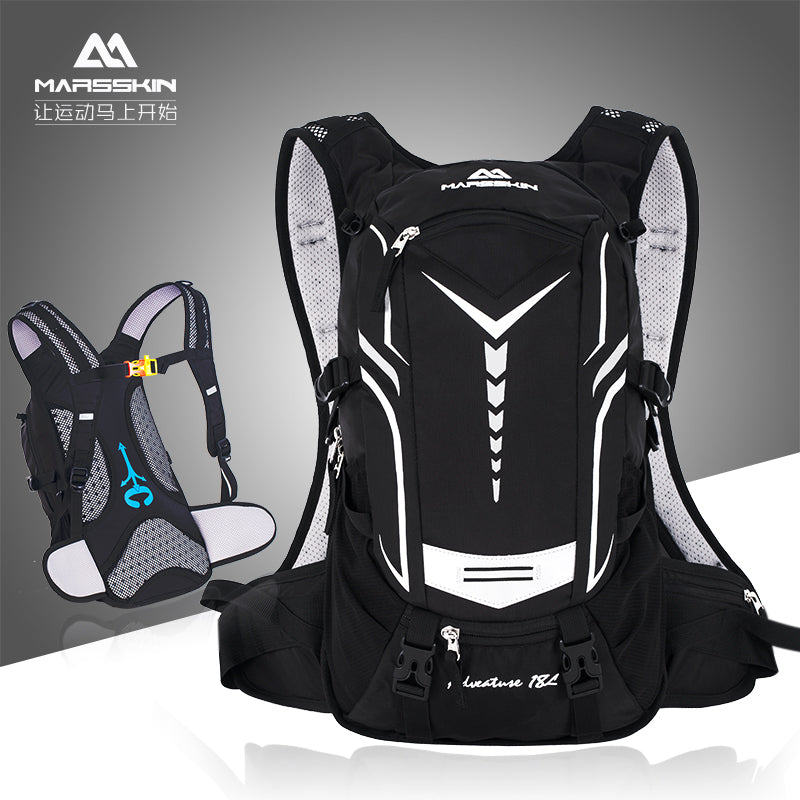 Outdoor sports backpack hiking shoulder bag climbing bag bicycle water bag bag equipped with ultra-light 18L cycling backpack