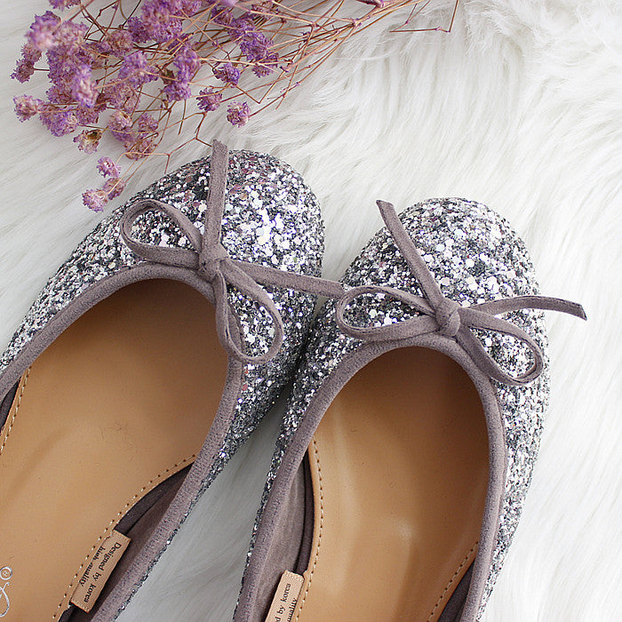 Single-shoe women's  flat-soled bridesmaid shoes