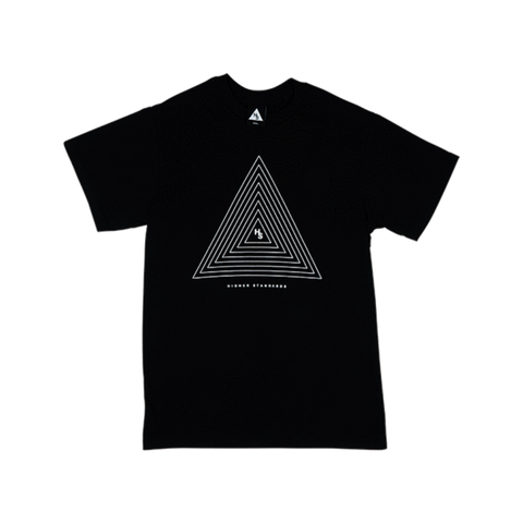 Higher Standards T-Shirt - Concentric Triangle - Glasss Station