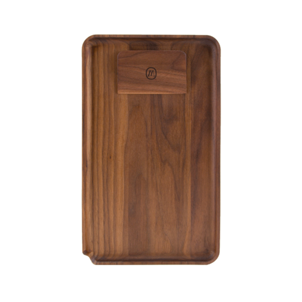 Marley Natural Black Walnut Rolling Tray - Glasss Station
