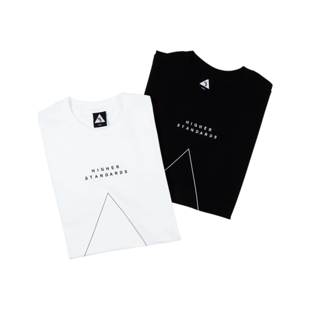 Higher Standards T-Shirt - Embroidered Triangle - Glasss Station