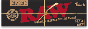 Raw Black Rolling Papers 1 1/4 size - Glasss Station