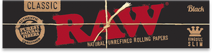 Raw Black King Size Slim Rolling Papers - Glasss Station