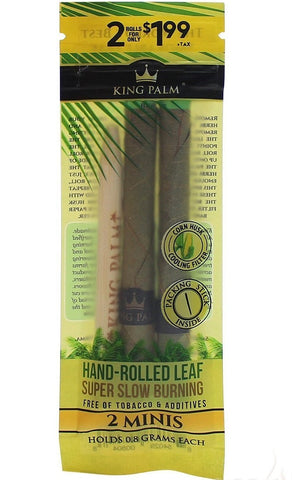 King Palm Mini Natural Pre-Rolled Cones (2-Pack) - Glasss Station