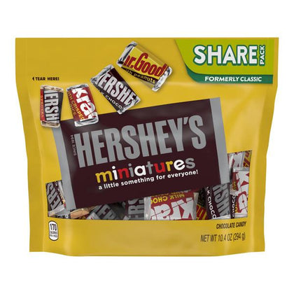 Hershey's Miniatures Assortment Chocolate Candy, Share Pack, 10.4oz