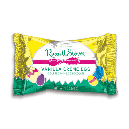 Russell Stover Milk Chocolate Vanilla Creme Egg, 1 oz