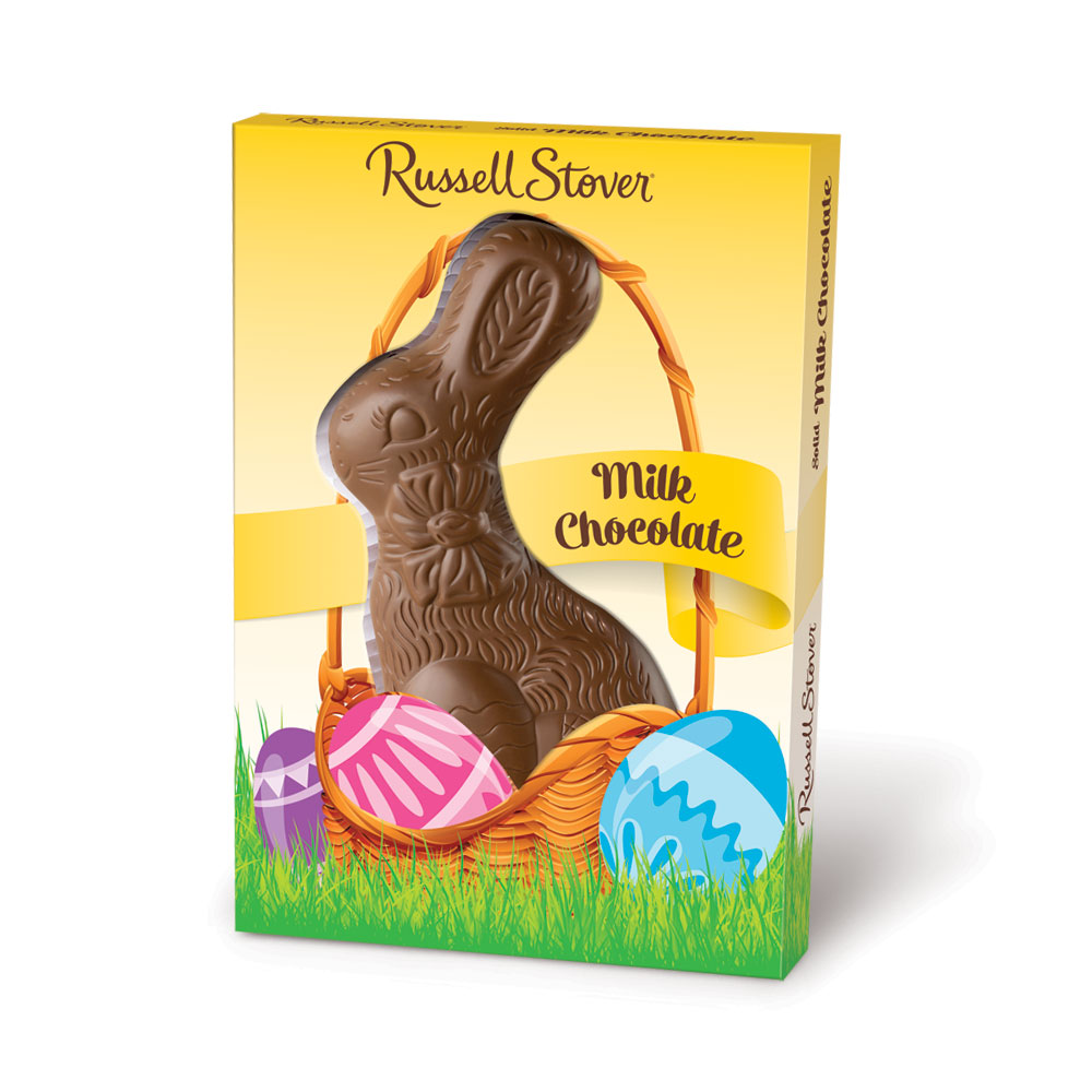 Russell Stover Solid Milk Chocolate Rabbit, 7 oz