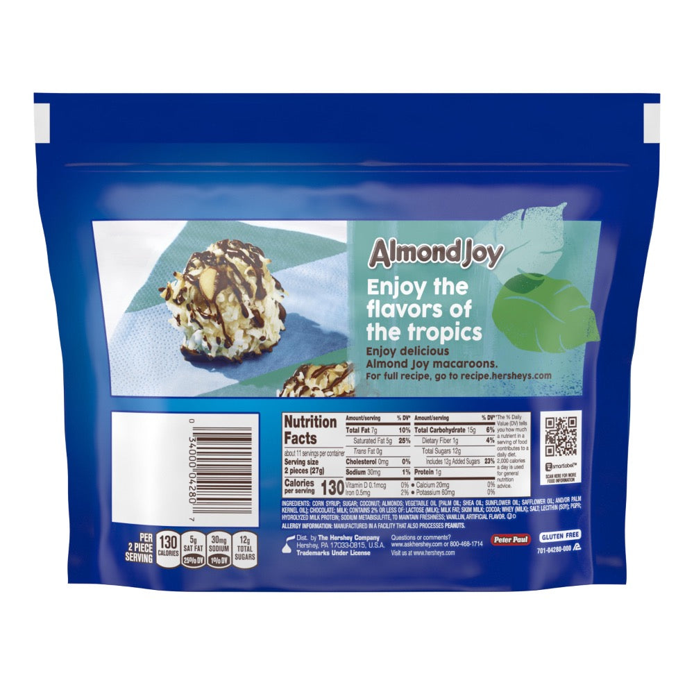 Almond Joy Snack Size Candy Bars, Share Pack, 10.2oz