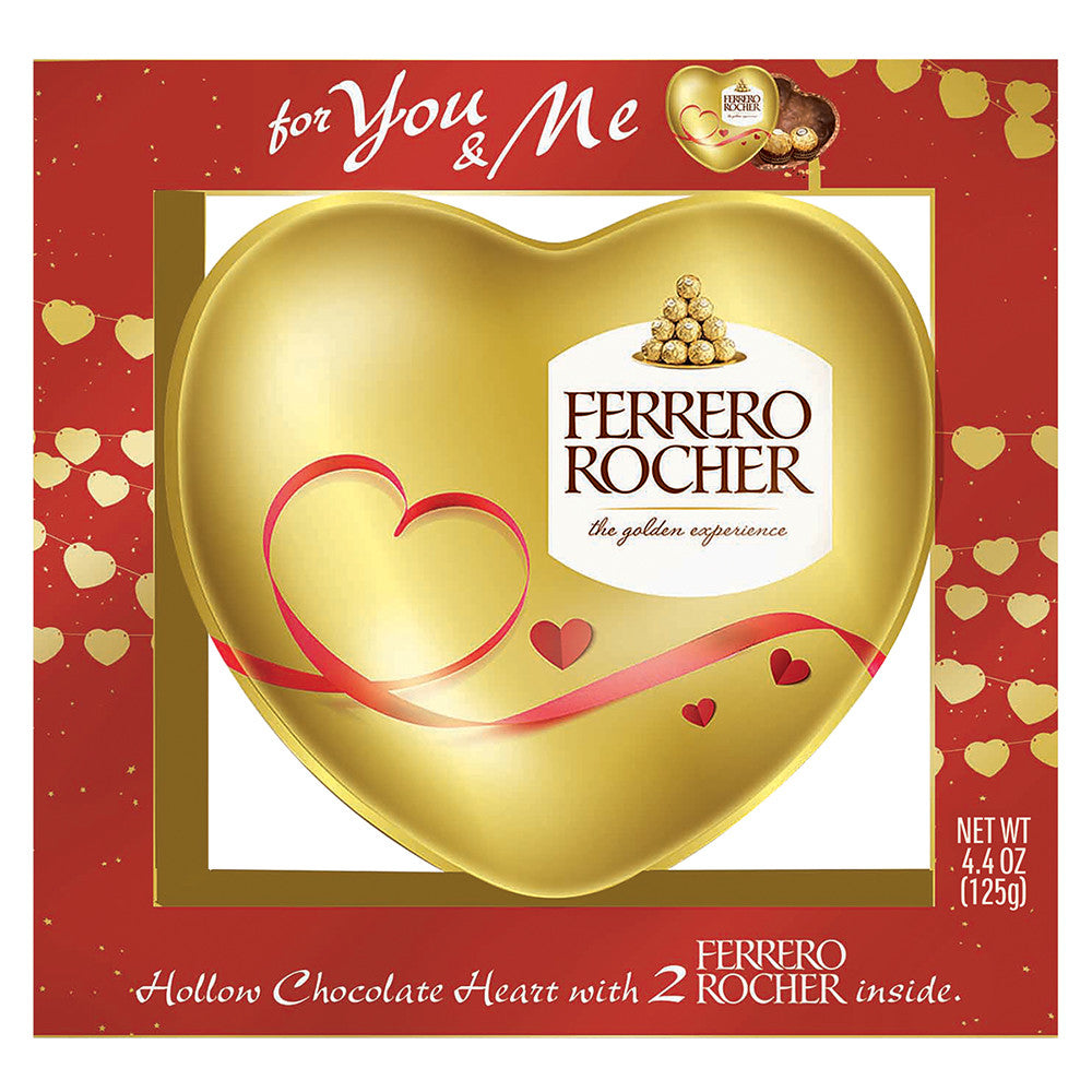 Ferrero Rocher Valentine's Day Milk Chocolate and Hazelnut Hollow Heart, 4.4oz