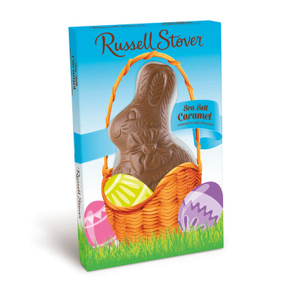 Russell Stover Milk Chocolate Sea Salt Caramel Rabbit, 3 oz