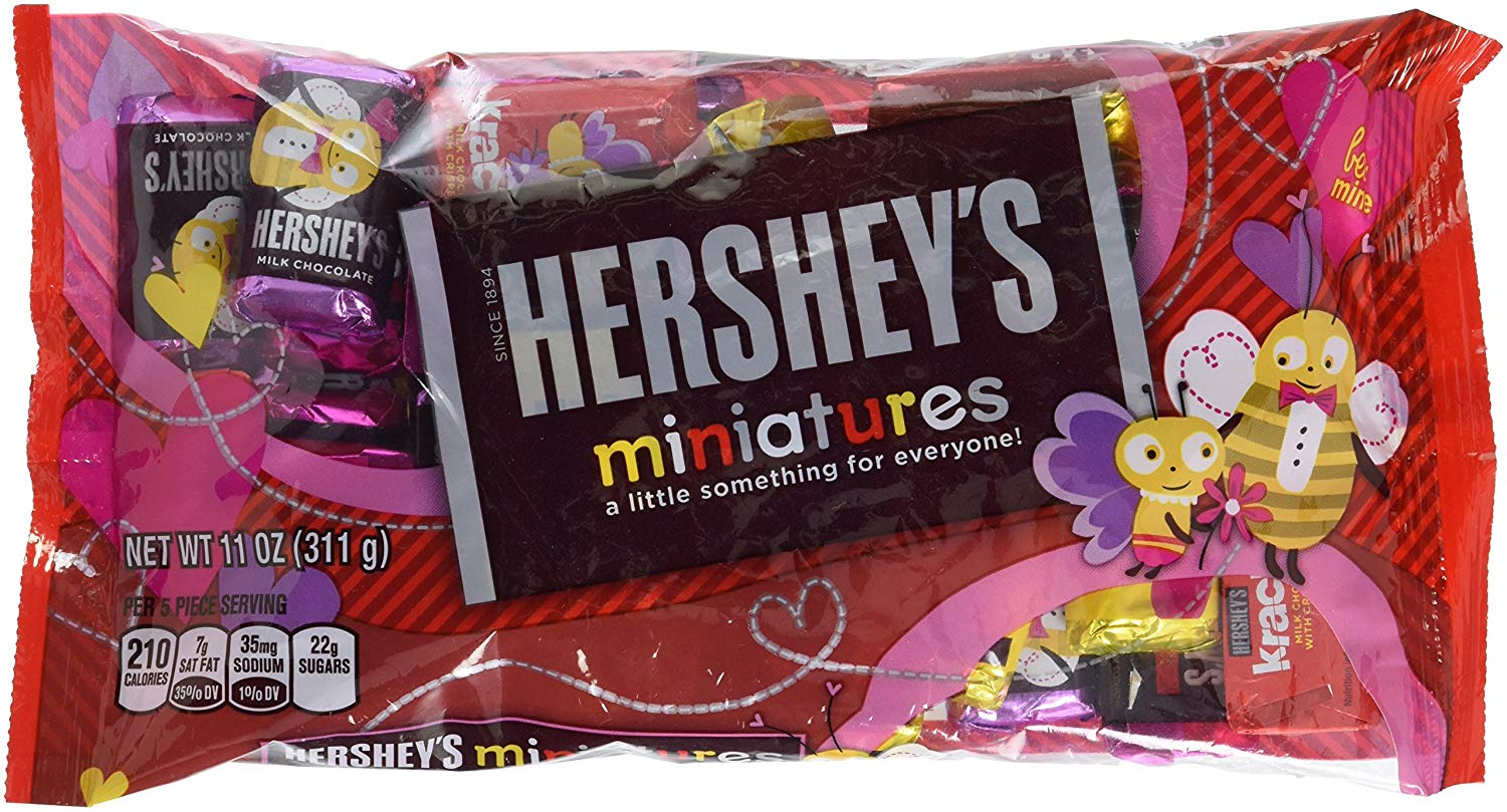 Hershey's, Miniatures Valentine's Assortment Chocolate Candy, 11 Oz
