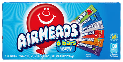 Airhead Assorted Flavors Chewy Candy Bars, 3.3oz