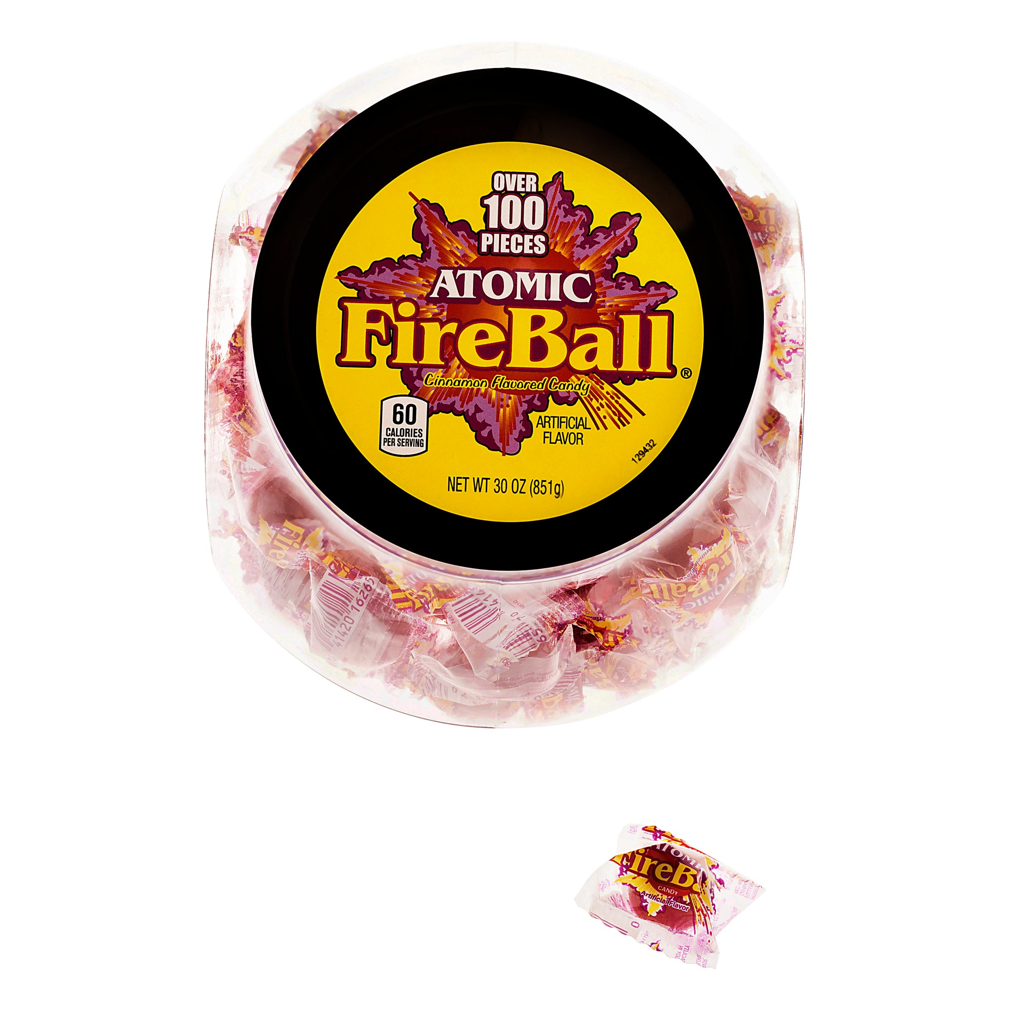 Atomic Fire Ball Cinnamon Flavored Candy, 30 Oz