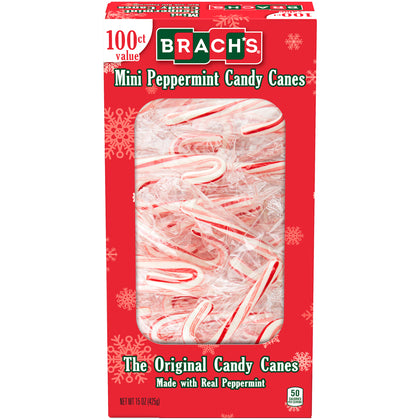 Brach's Bob's Mini Peppermint Candy Canes, 100ct, 15oz