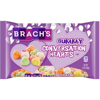 Brach's Gummy Conversation Hearts, 10oz