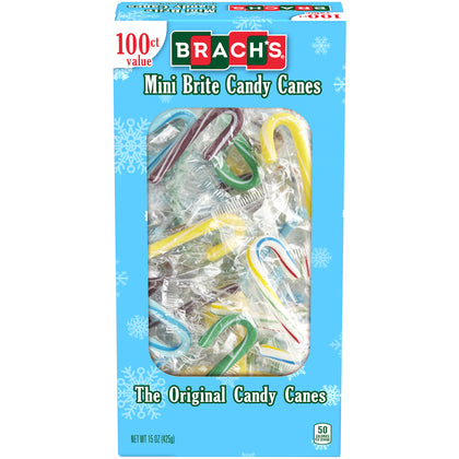 Brach's Mini Brite Candy Canes, 100ct, 15oz