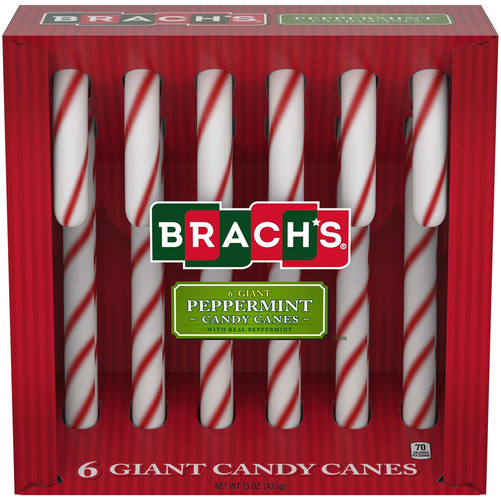 Brach's Peppermint Giant Candy Canes, 15oz, 6ct