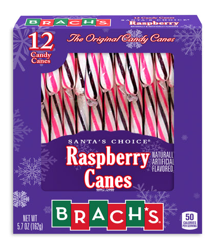 Brach's Raspberry Candy Canes, 5.7oz