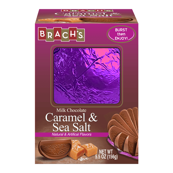 Brach's Sea Salt Milk Chocolate Caramel Orange Ball, 5.5oz