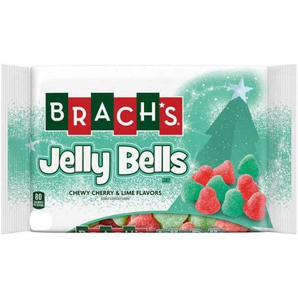 Brach's Jelly Bells, Chewy Cherry and Lime Christmas Candies, 10oz