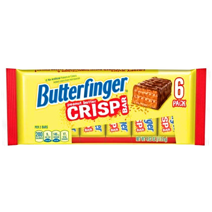 Butterfinger Peanut Butter Crisp Bars, 6 Ct, 4.02oz