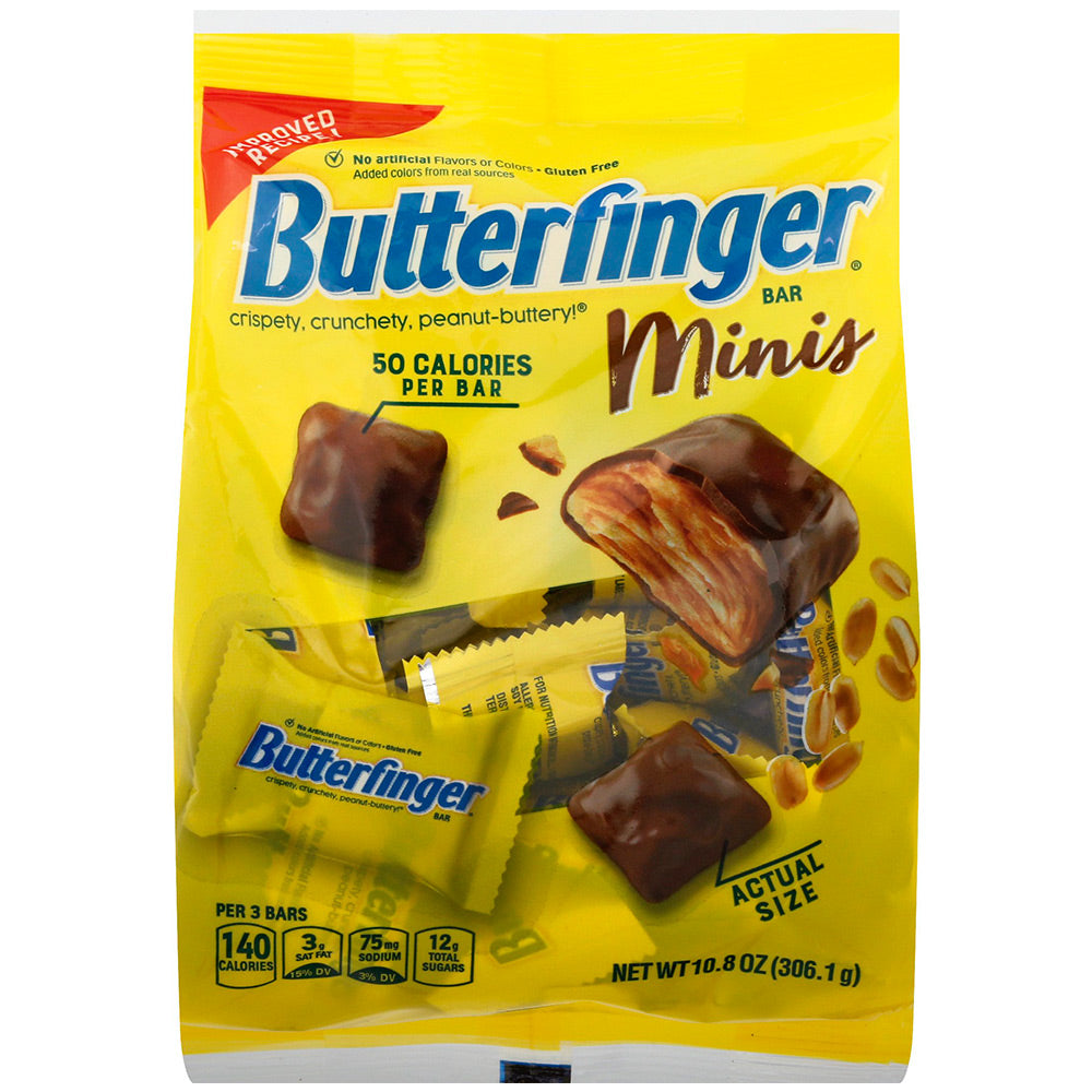 Butterfinger Minis Chocolate Candy Bars, 10.8oz