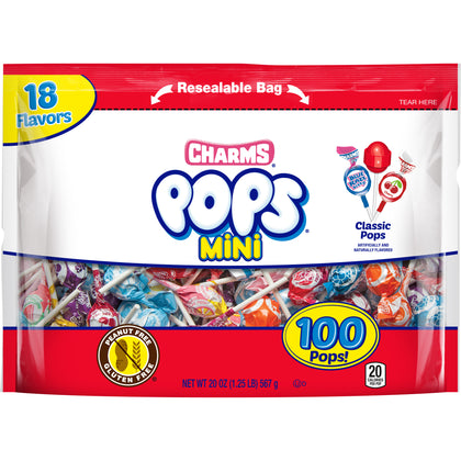 Charms Mini Pops, 20oz/100pk