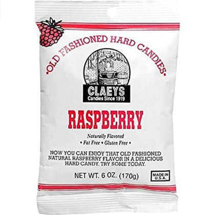 Claey's Raspberry Old Fashioned Hard Candy, 6oz