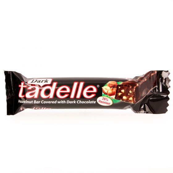 Tadelle Hazelnut Dark Chocolate Bar, 1.06oz (Product of Turkey)