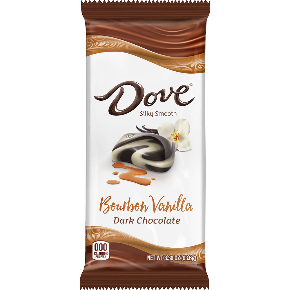 Dove Bourbon Vanilla Dark Chocolate Candy Bar, 3.3oz