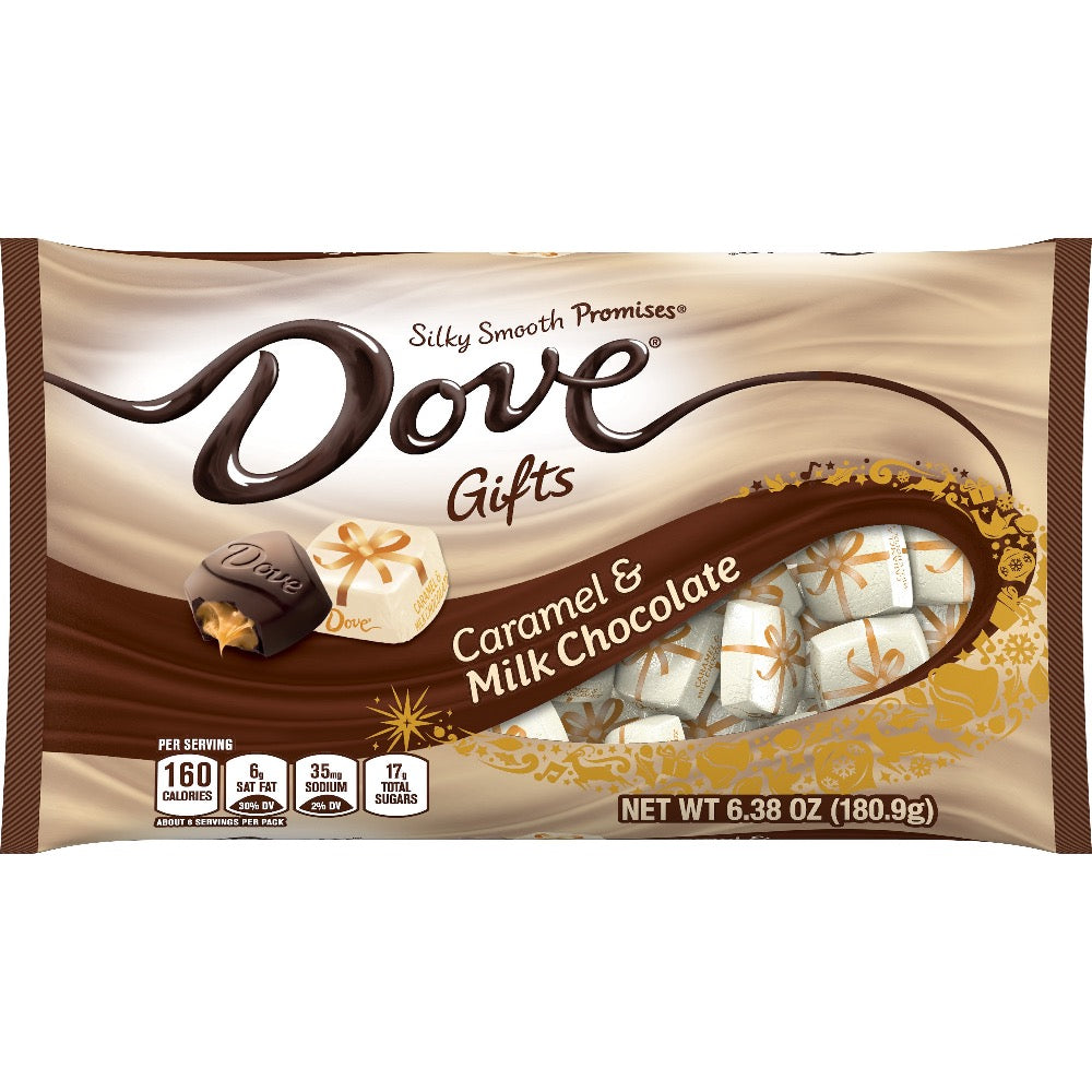 Dove Gifts Caramel & Milk Chocolate Christmas Candy, 6.38oz