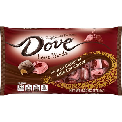 Dove Promises Valentine's Heart Milk Chocolate Peanut Butter Candy Bag, 6.3 oz