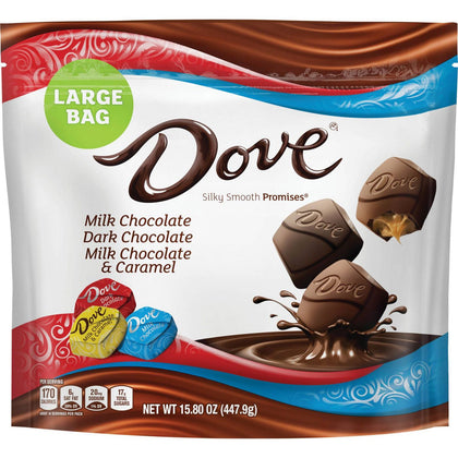 Dove Promises Variety Pack Chocolate Candies, Large Bag, 15.8oz