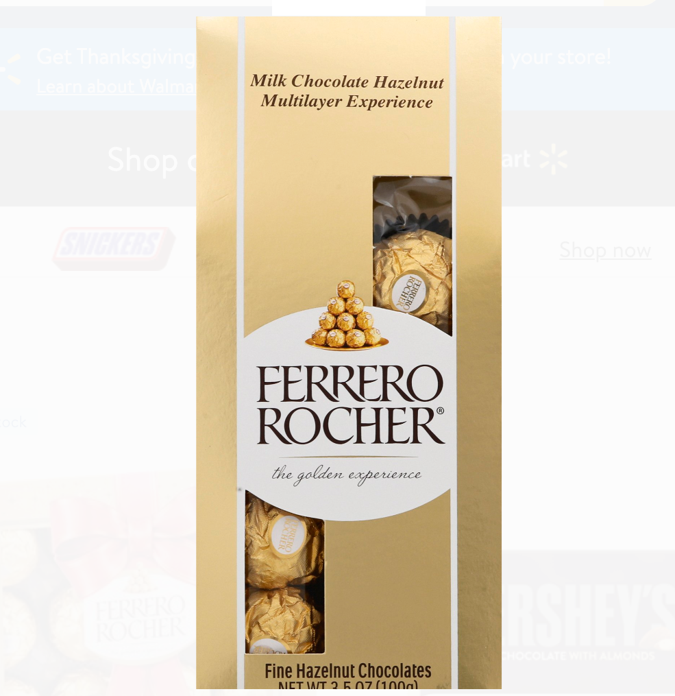 Ferrero Rocher Hazelnut Chocolates, 3.5oz
