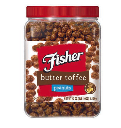 Fisher Butter Toffee Peanuts, 42 oz