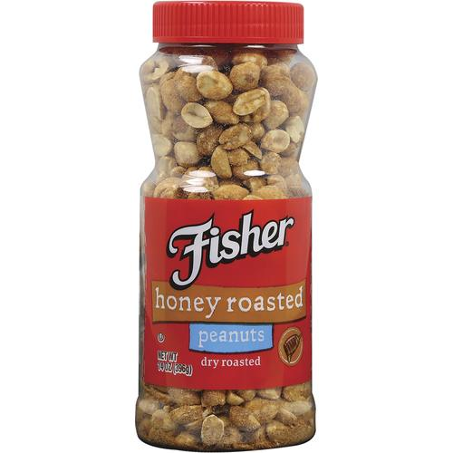 Fisher Honey Roasted Peanuts, 14 oz