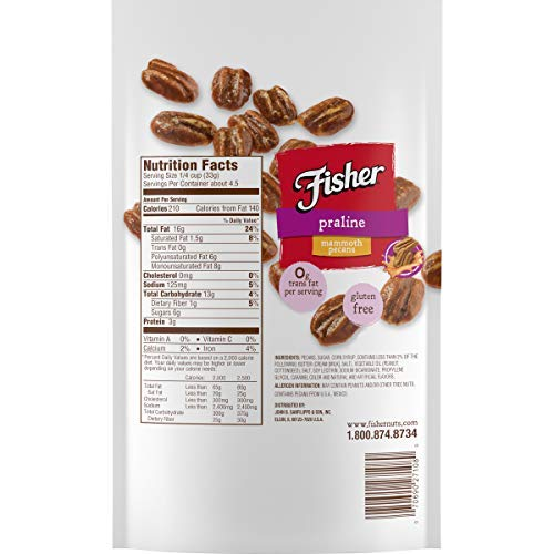 Fisher Praline Pecans, 5.5 oz