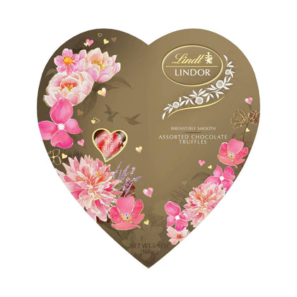 LINDOR Valentine's Day Assorted Chocolate Truffles Heart - 5.9oz