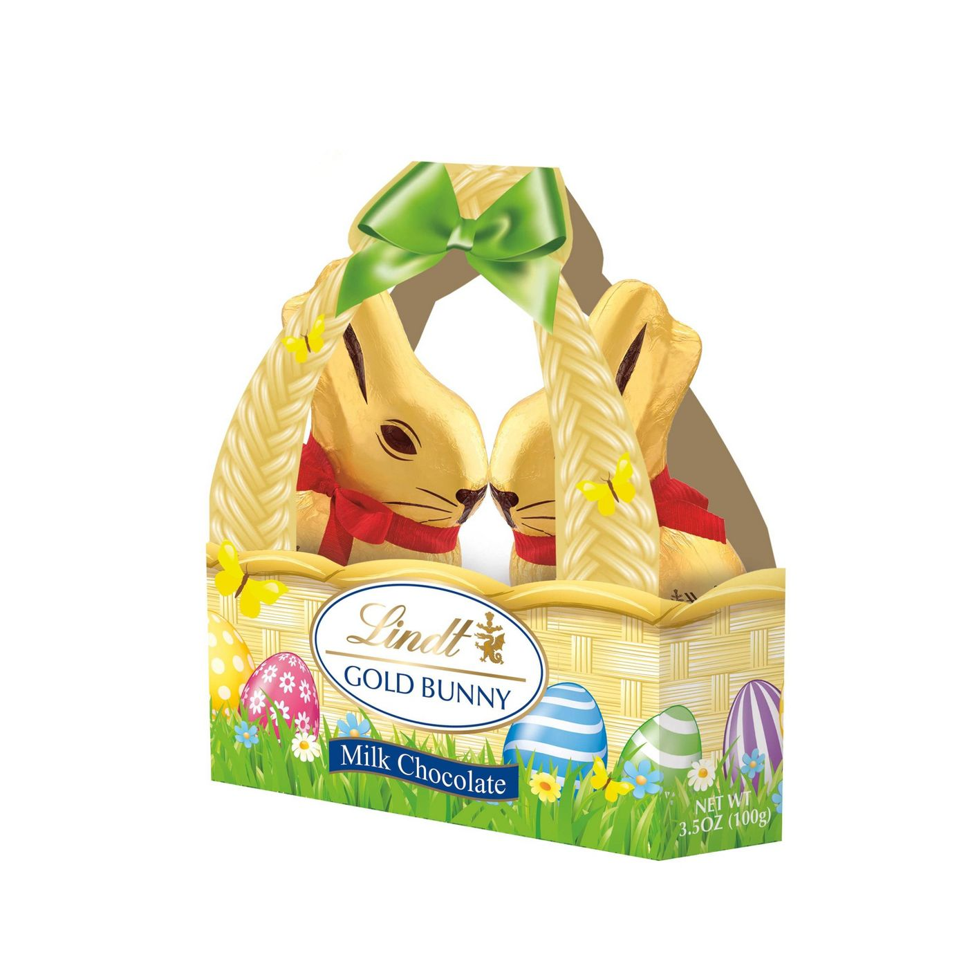 Lindt Easter Gold Bunny Milk Chocolate Basket, 3.5oz