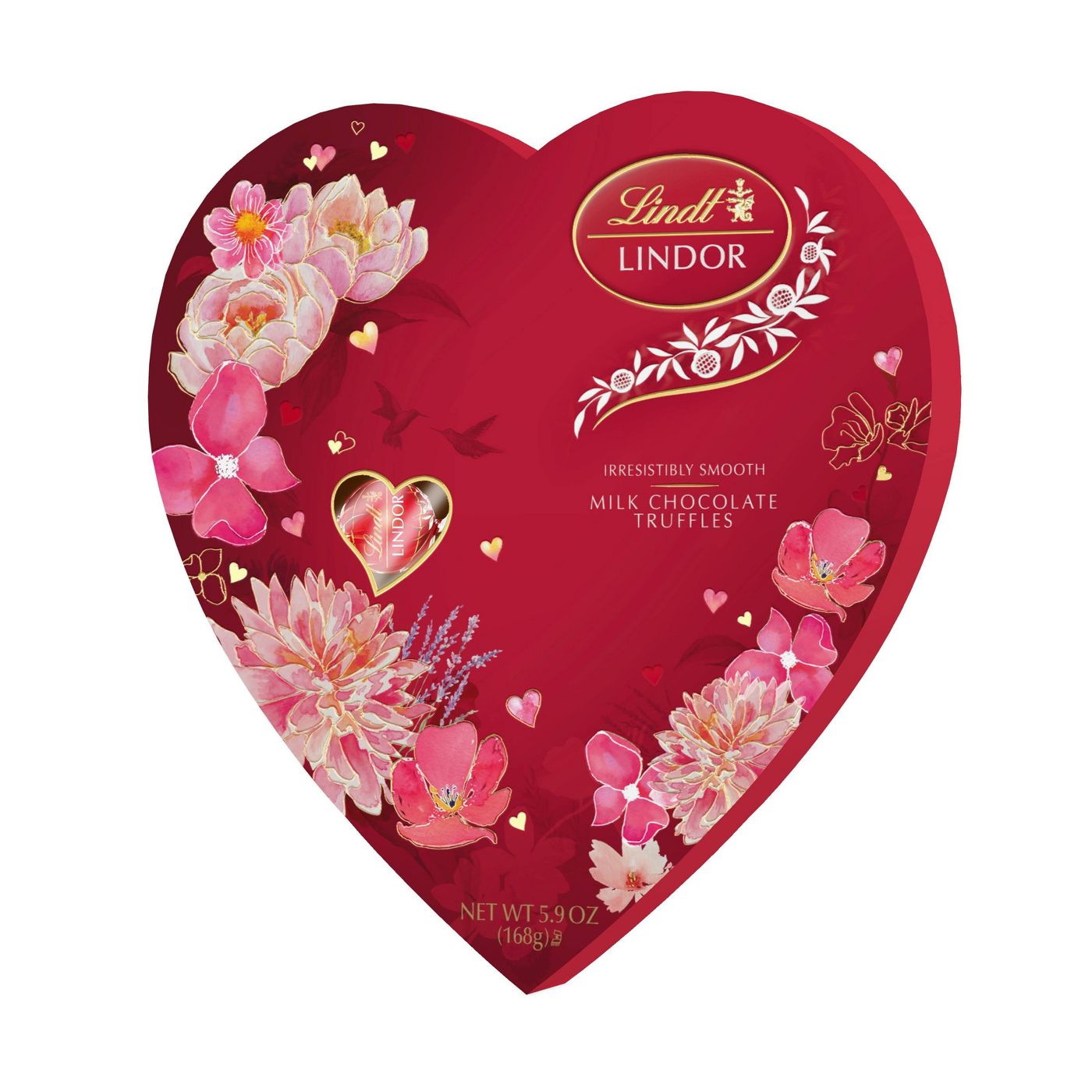 LINDOR Valentine's Day Milk Chocolate Truffles Heart, 5.9oz