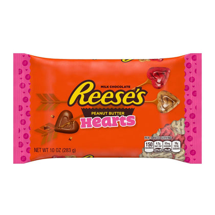 Reese's, Valentine's Milk Chocolate Peanut Butter Candy Hearts, 10 Oz