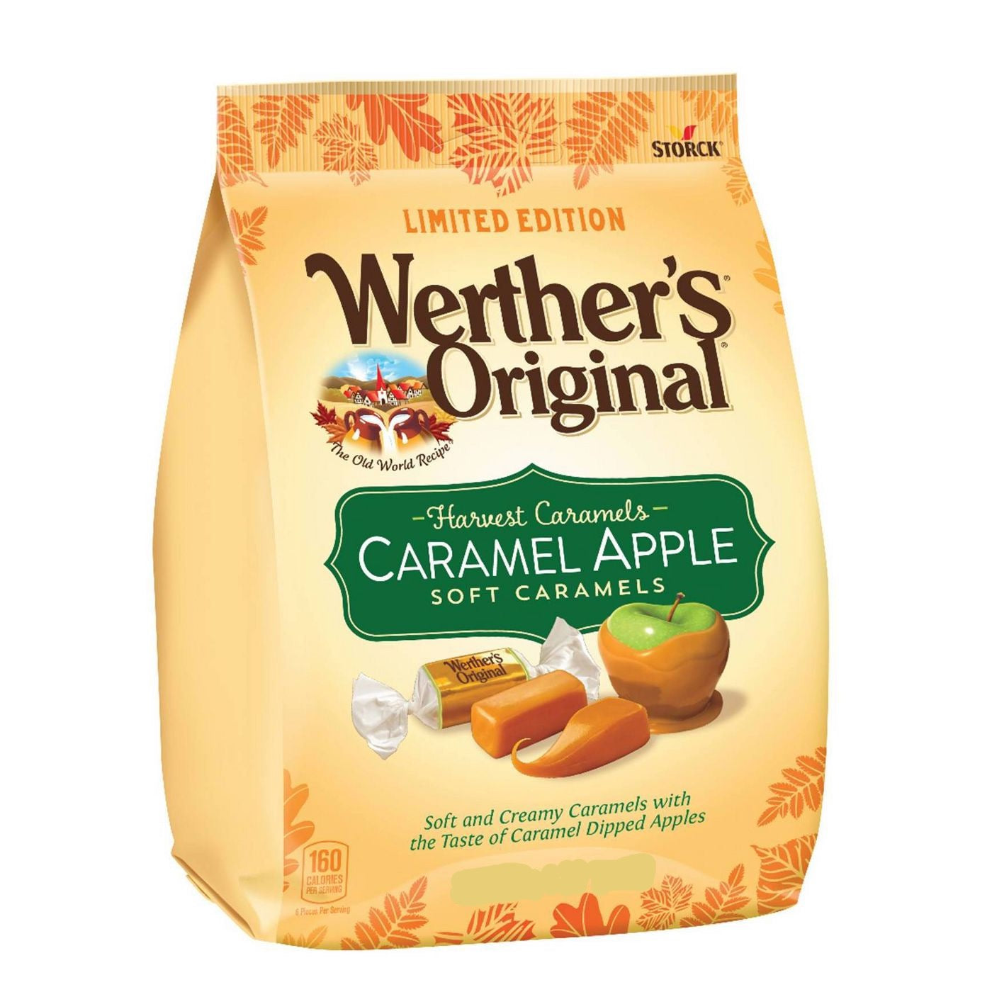 Werther's Originals, Harvest Caramels, Caramel Apple Soft Caramels, 8.57oz