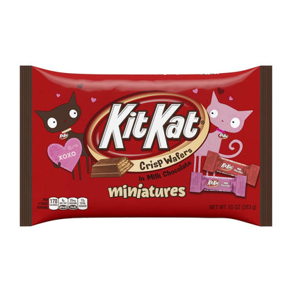 Kit Kat, Miniatures Valentine's Milk Chocolate Covered Wafer Candy, 10 Oz