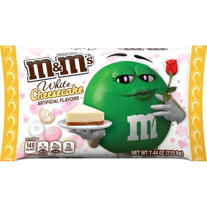 M&M'S White Cheesecake Valentine's Day Chocolate Candy, 7.44oz