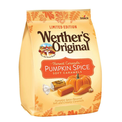 Werther's Originals, Harvest Caramels, Pumpkin Spice Soft Caramels, 8.57oz