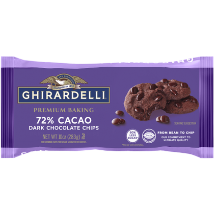 Ghirardelli 72% Cacao Dark Chocolate Chips, 10oz