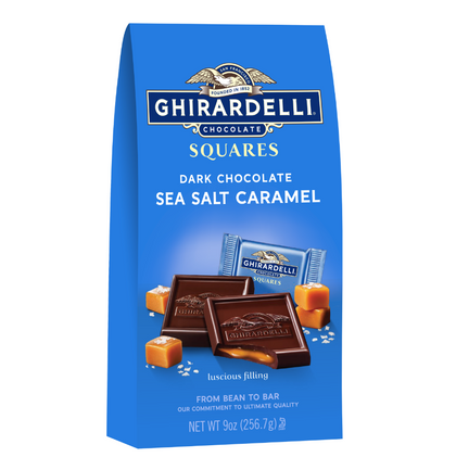 Ghirardelli Dark Chocolate Sea Salt Caramel Squares, 9oz