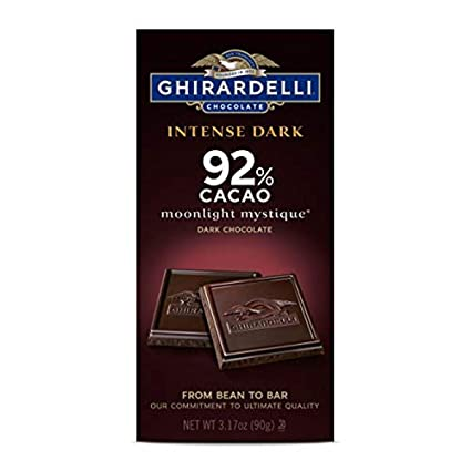 Ghirardelli Intense Dark 92% Cacao Moonlight Mystique Dark Chocolate, 3.17oz