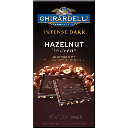 Ghirardelli Intense Dark Hazelnut Heaven Dark Chocolate with Roasted Hazelnuts, 3.5oz
