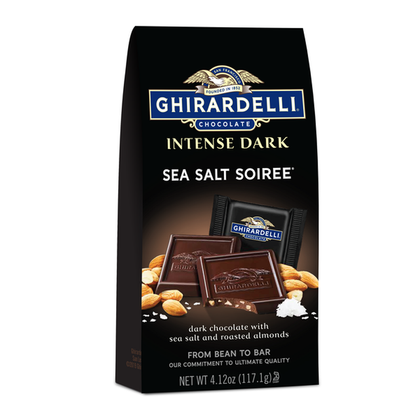 Ghirardelli Intense Dark, Sea Salt Soiree, Squares, 4.12oz